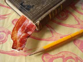 You can buy this bacon bookmark at robertpasternak.net